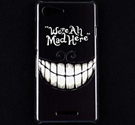 Crazy Teeth Pattern Pc Back Cover Case for Sony Xperia E3 D2203 D2206