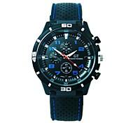 reloj reloj de los deportes de los hombres de negro interior de silicona reloj de sombra china movimiento circular (colores surtidos)