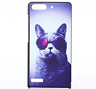 Glasses Cat Pattern PC Hard Case for Huawei G6