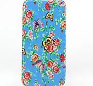 abrir e padrão floral telefone escudo protetor caso de corpo inteiro para baixo para iphone 6 mais