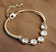 Charming Shining Diamond Gold Bracelet