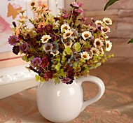 "Purple White Artificial Wildflowers Bouquet 2 Pieces/Lot 5.51"" for Home Decoration"