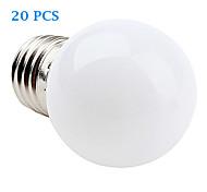 1W E26/E27 Lampadine LED a incandescenza 12 SMD 3528 30 lm Bianco caldo / Luce fredda AC 220-240 V 20 pezzi