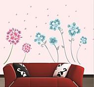flor romántica hermosa decoración del hogar pegatinas de pared de ajuste