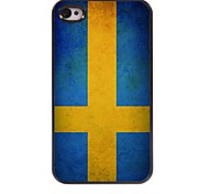Vintage The Flag of Sweden Design Aluminum Hard Case for iPhone 4/4S