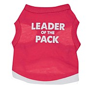 Leader of the Pack Cotton Vest for Dogs (Red Assorted Sizes)
