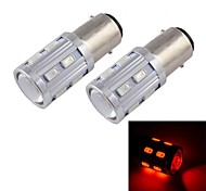16w BA9s High Power Auto-LED-Nebelscheinwerfer, 16LED, DC12V, 80lm, Energieeinsparung, Umweltschutz (rot)