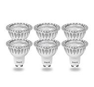 6 Stück IENON® LED Spot Lampen MR16 GU10 3W 240-270 LM 3000 K COB Warmes Weiß AC 100-240 V