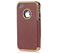 PU leather phone protective shell for iPhone 4/4S (Assorted Color)