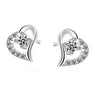 Ohrring Ohrstecker Schmuck 2 Stück Sterling Silber Damen Weiß / Lila