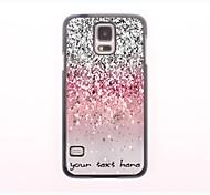 caja del teléfono personalizado - caja de metal brillante polvo de diseño para el mini samsung galaxy s5