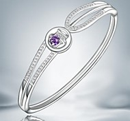 Classic Simple Silver Plated Alloy Cuff Bracelet(1pc)