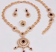 Jewelry-Necklaces / Earrings / Rings / Bracelets & Bangles(Alloy / Gold Plated)Wedding / Party / Daily Wedding Gifts