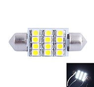 GC® 36mm 3W 12x3528SMD 150LM 6000K White LED for Car Reading / License Plate / Door Lamp (DC 12V)
