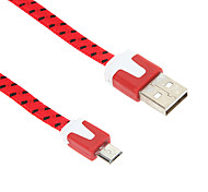 Micro USB 100CM Weaving Noodle Charger Cable