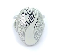 SPHERE Stainless Steel Chinese Style Rings