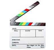 slate claquete acrílico filme / diretor de cinema - branco + preto