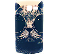 Sunglass Cat Design Pattern Hard Case Cover for Samsung Galaxy Trend Lite S7390/S7392