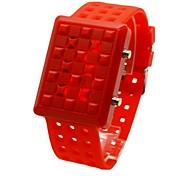 esportes dos homens levou discrição relógio pulseira de silicone aeronaves (cores sortidas)