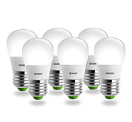 IENON® 6pcs S14 E27 3W 240-270LM 6000K Cool White Light  Pear Shaped LED Ceramic Blub(AC100-240V)
