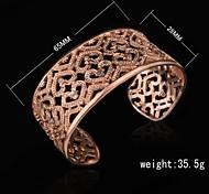 Fashion 18K Gold  Plated Cut Out Bangle Women's Bracelet