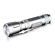 Raybow RB-202 Rechargeable 3-Mode 1x Cree Q5 Zoom LED Flashlight(240LM, 1x18650, Silver)
