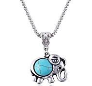 Cute Elephant Sapphire Necklace