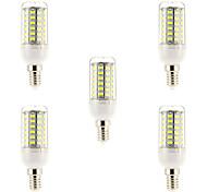 15W E14 LED Glühlampen 69 SMD 5730 1500 lm Natürliches Weiß AC 220-240 V 5 Stück