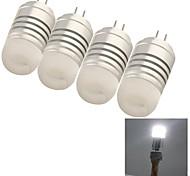 4W G4 Bombillas LED de Mazorca 8 SMD 3014 150 lm Blanco Fresco Decorativa DC 12 / AC 12 V 4 piezas