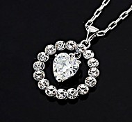 Fashion Rhinestone CZ Necklaces Random Color