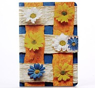 Sunflower Pattern PU Leather Full Body Case with Stand  for iPad Mini 1/2/3