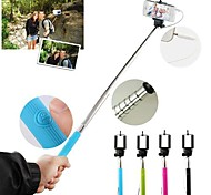 Wired Updated Anti-rotate Extendable Selfie Handheld Monopod Holder Remote Button for Smasung iPhone (Assorted Colors)