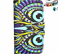 Owl Pattern PU Leather  Full Body Case with Card Slot And Stand And Dustproof Plug for Motorola G2