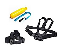 Gopro Accessories 3 in 1 Chest Strap + Head Strap+Floating Handle Grip For GoPro Hero 1 2 3 3+4Camera