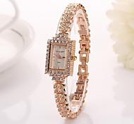 Women's  Square Diamant Dial   Diamond Band Wristwatches   C&d327