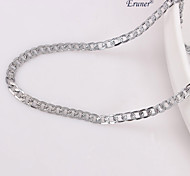 Eruner®Unisex 4MM Silver Chain Necklace NO.106