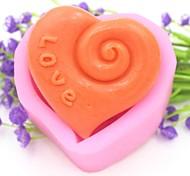люблю форме сердца помады торт шоколадный силиконовые формы украшения торта инструментов, l7.5cm * w7cm * h3.8cm