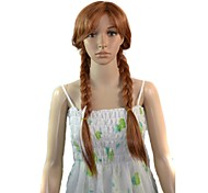 Women Cosplay Cartoon Long Anna Princess Cosplay Synthetic Wig with Free Hair Net