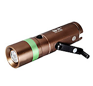 HanGuang Hand System Rechargeable 3-Mode 1x Cree Zoom LED Flashlight(260LM, 1x16340, Copper)