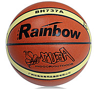 Rainbow Indoor Outdoor Pu Abrasion Resistant Leather High Wear-Resistant And Durable Basketball