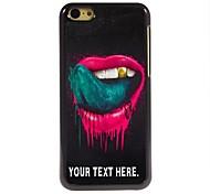 caso personalizzato il labbro e il caso lingua design in metallo per iphone 5c