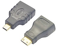 HDMI Female to Micro HDMI Male Adapter + HDMI to Mini HDMI Converter Adapter
