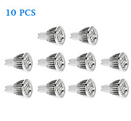 10 pcs GU10 5 W 5 COB 500 LM Warm White/Cool White Spot Lights AC 220-240 V