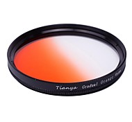TIANYA 49mm Circular Graduated Orange Filter for Sony A7R NEX-7 NEX5N NEX-5C NEX-C3 E18-55mm Lens
