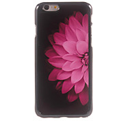Half of The Pink Flower Design Aluminium Hard Case for iPhone 6