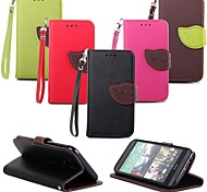 Leaves PU Leather Full Body Case with Card Slot, Stand and Strap for HTC One M8 (Assorted Colors)