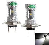 Zweihnder  H7 30W 2800LM 6000-6500K 6xCree XB-D White Light Bulb for Car Fog Lamp (12-24V,2 Pieces)