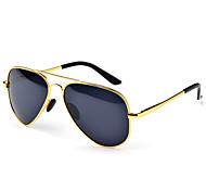 acero inoxidable aviador de las mujeres polarizadas gafas de sol retro