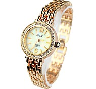 Women's Watch Bracelet Watch With Diamante Round Case