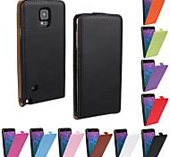 Para Samsung Galaxy Note Flip Funda Cuerpo Entero Funda Un Color Cuero Sintético Samsung Note 4